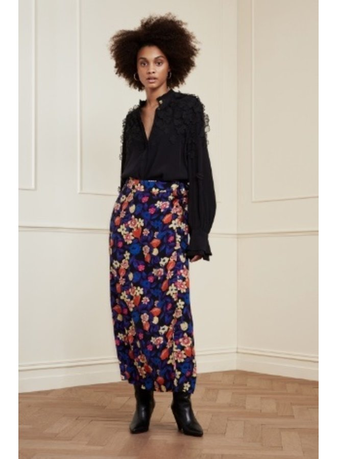 Bobo Tara Skirt Black/Citron Fab Flora - Fabienne Chapot