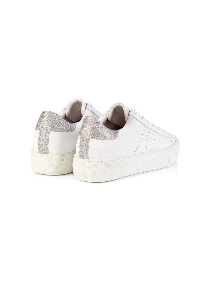 Roxy Trainer - White/Silver Glitter