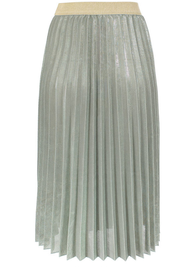 Midi Lurex Waistband Skirt