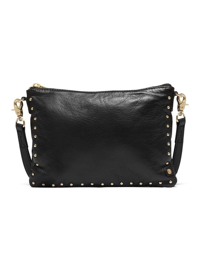 Small bag/ clutch with gold stud edge