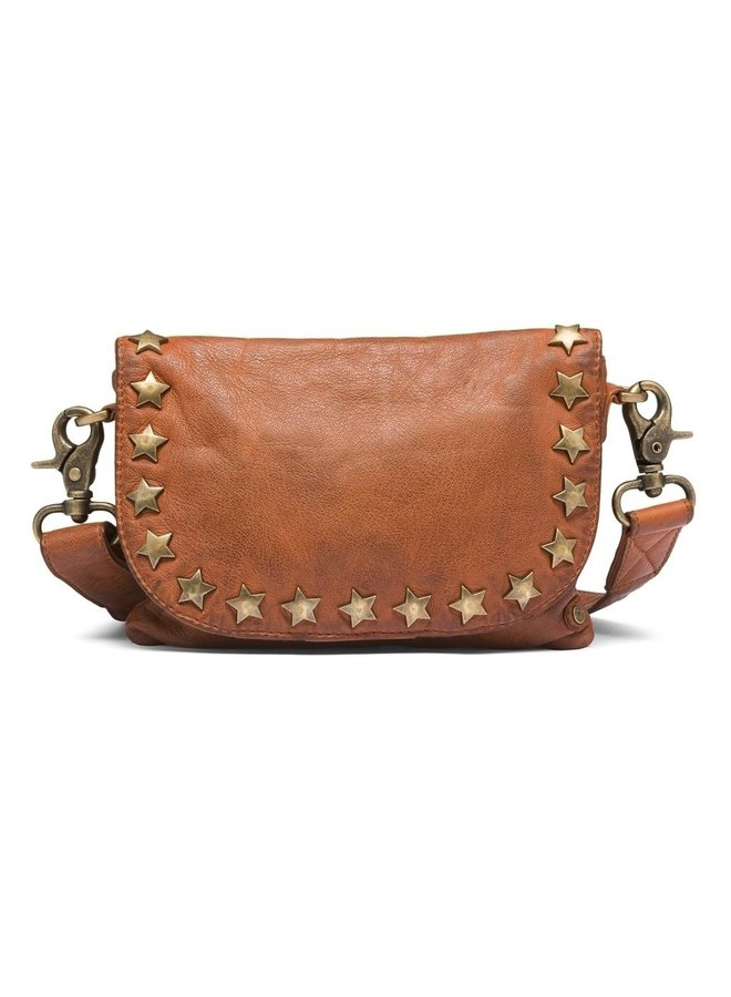 Small bag / Clutch with gold studded star