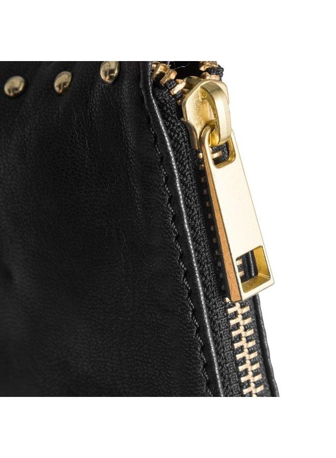 Gold studded credit card holder
