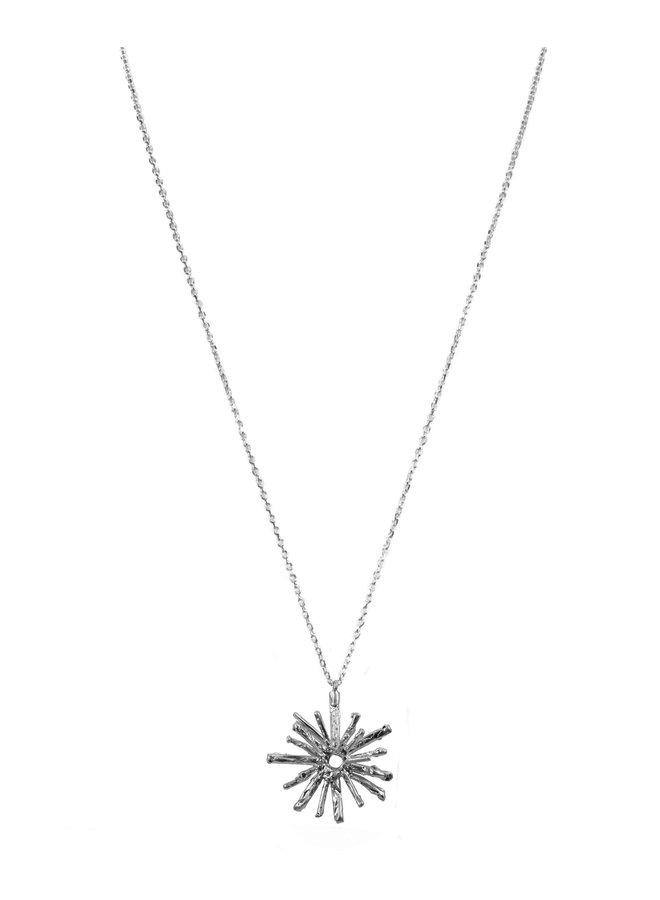 Silver Solar Pendant Necklace