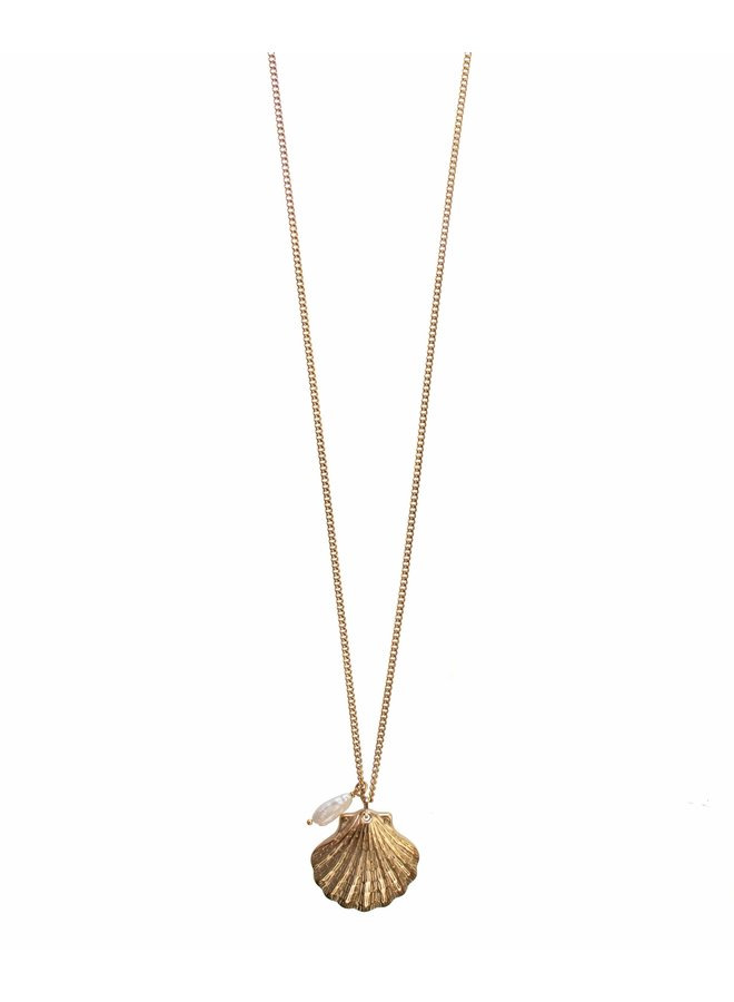 Gold Big Shell Necklace
