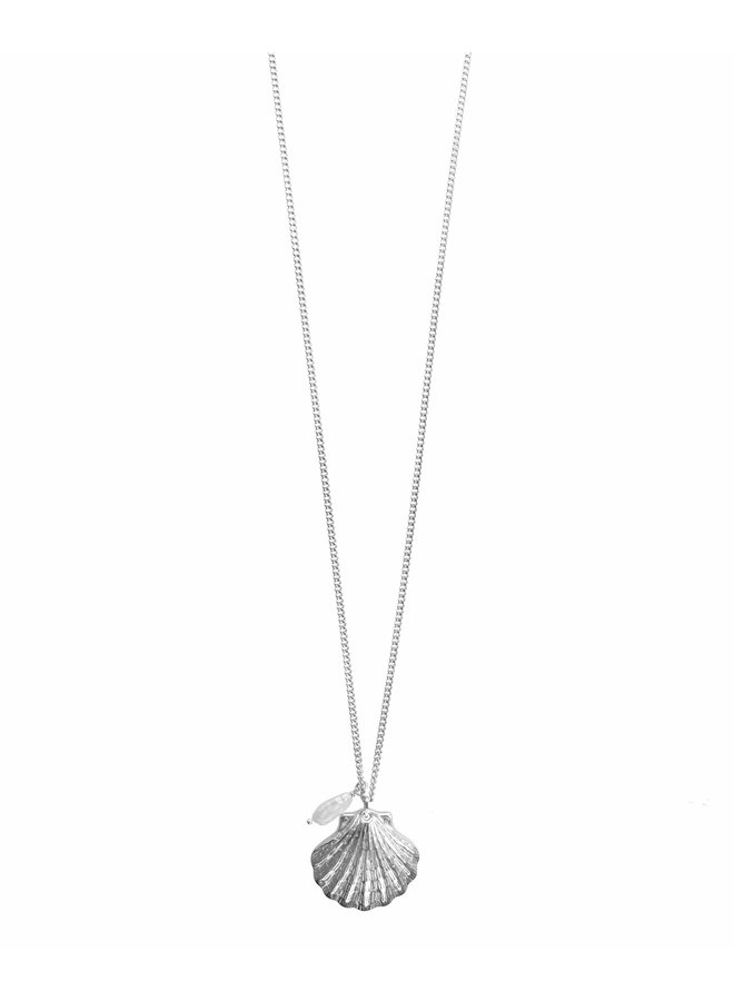 Silver Big Shell Necklace