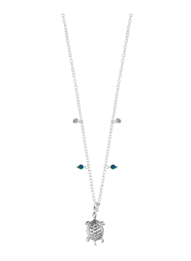 66007S Silver Turtle Necklace