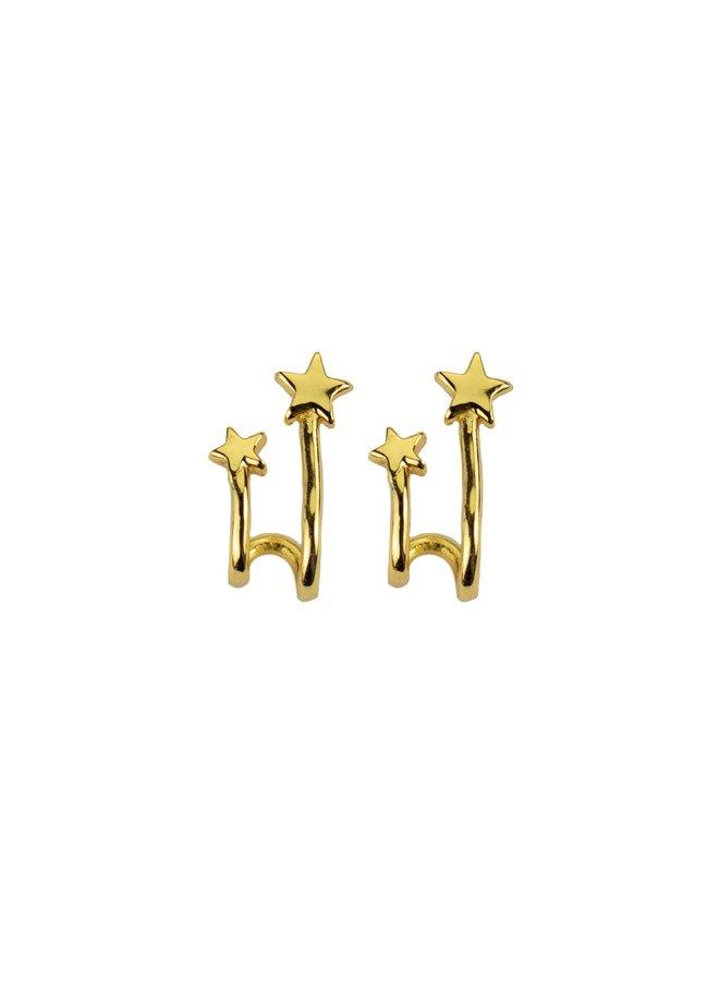 S05012G Gold Shooting Star Earring