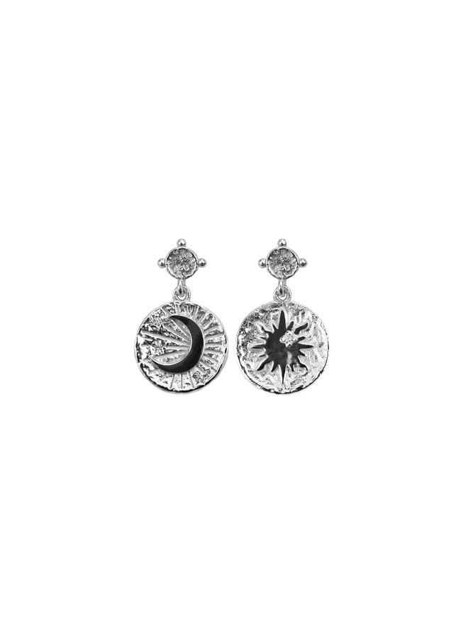 S05015S Silver Moonshine Earrings