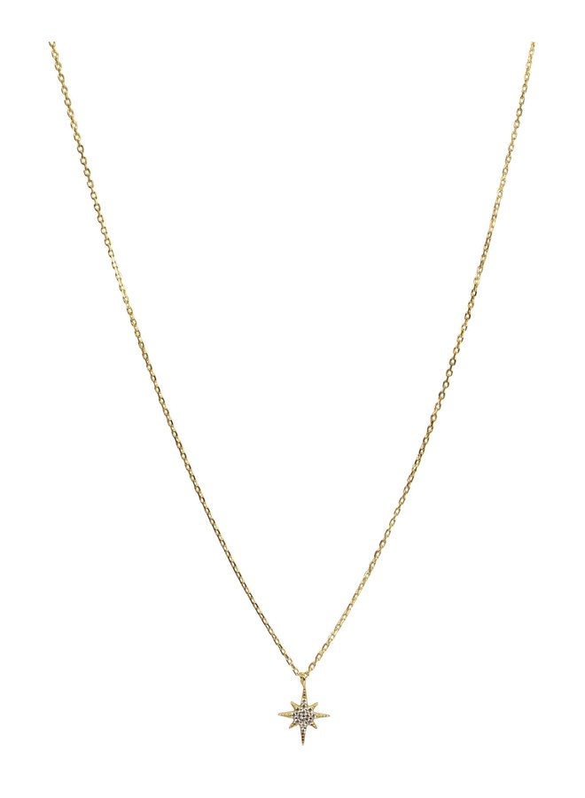 S05043G Gold Northern Star Necklace