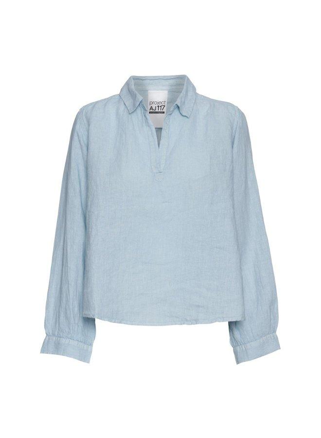 Half Placket Linen Shirt