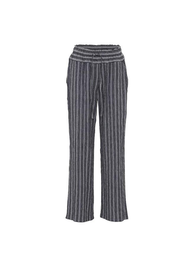 Wide Leg Stripe Trousers