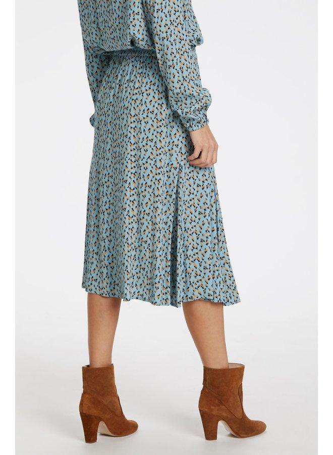 Woven Skirt Below Knee
