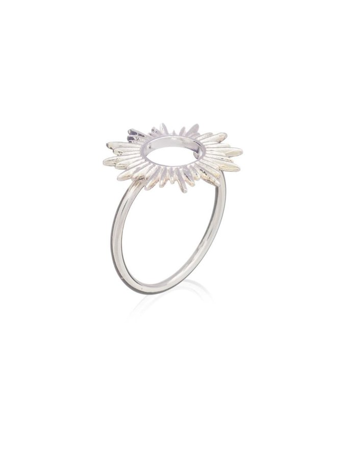 Silver Sunrays Ring