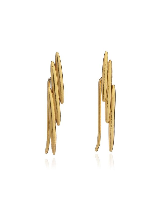 Gold Electric Goddess Earring