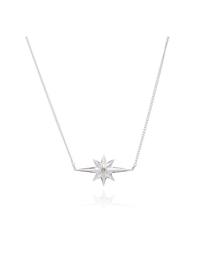 SilverShooting Star Diamond Necklace