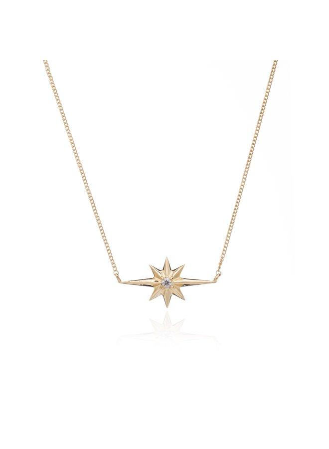 Gold Shooting Star Diamond necklace