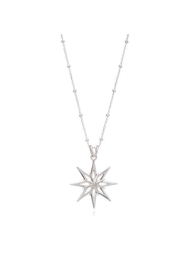 Silver Rock Star necklace