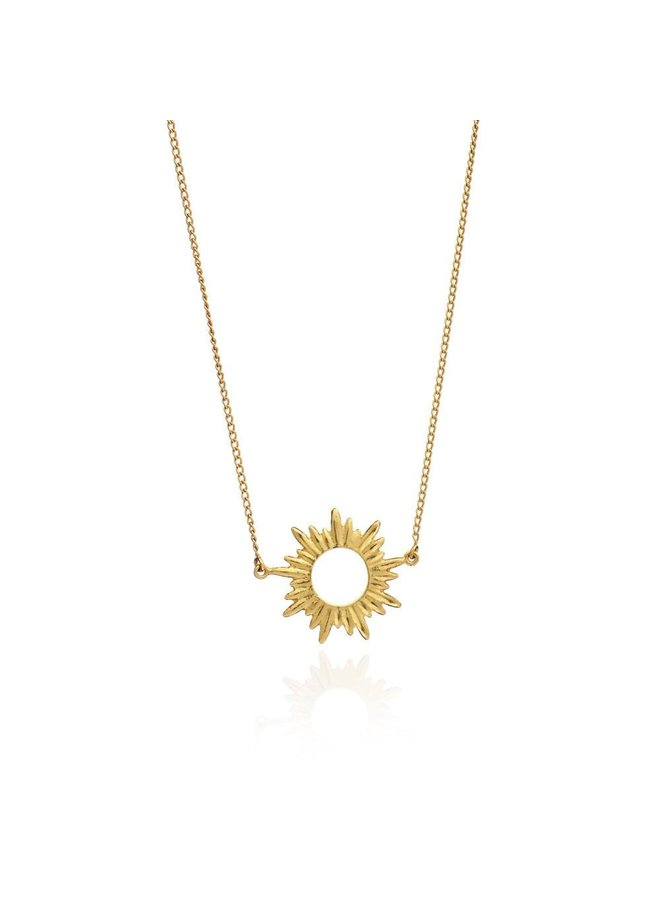 Small Gold Sunrays Necklace