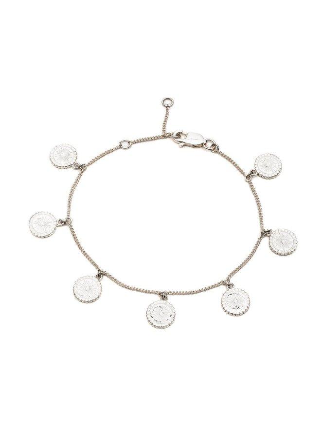 Silver Eternal Sun Coins Bracelet