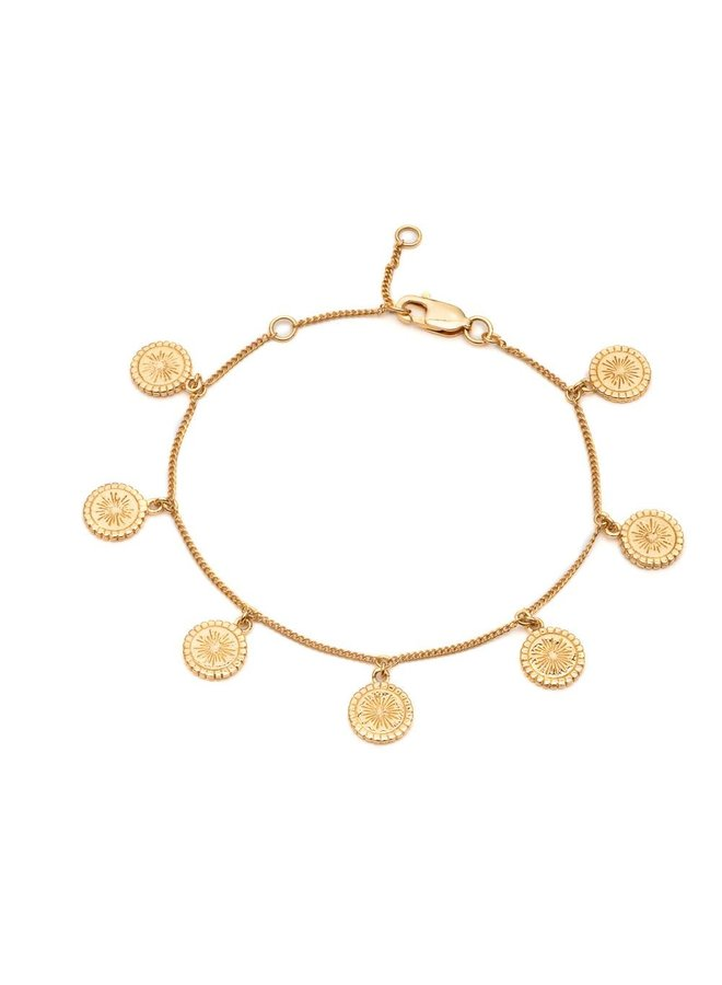 Gold Eternal Sun Coins Bracelet
