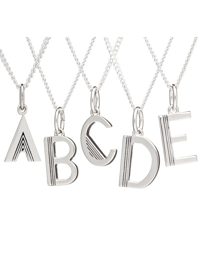 This is me necklace - Silver J