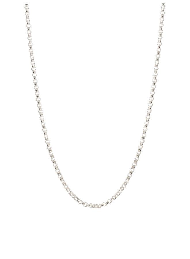 80cm Silver Belcher Chain