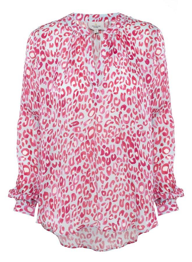 Sandy Open Shirt - Leo Blue/Pink