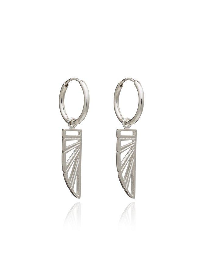 Silver Wings of Freedom Hoop