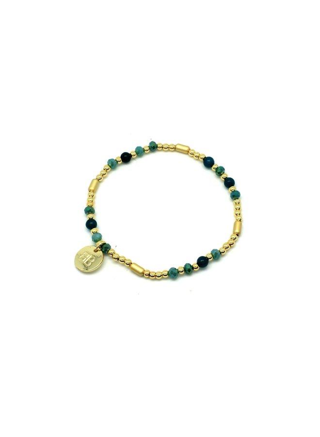 Buccina Teal Jade Bracelet