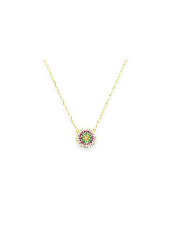 Fizz Disc Gold Necklace