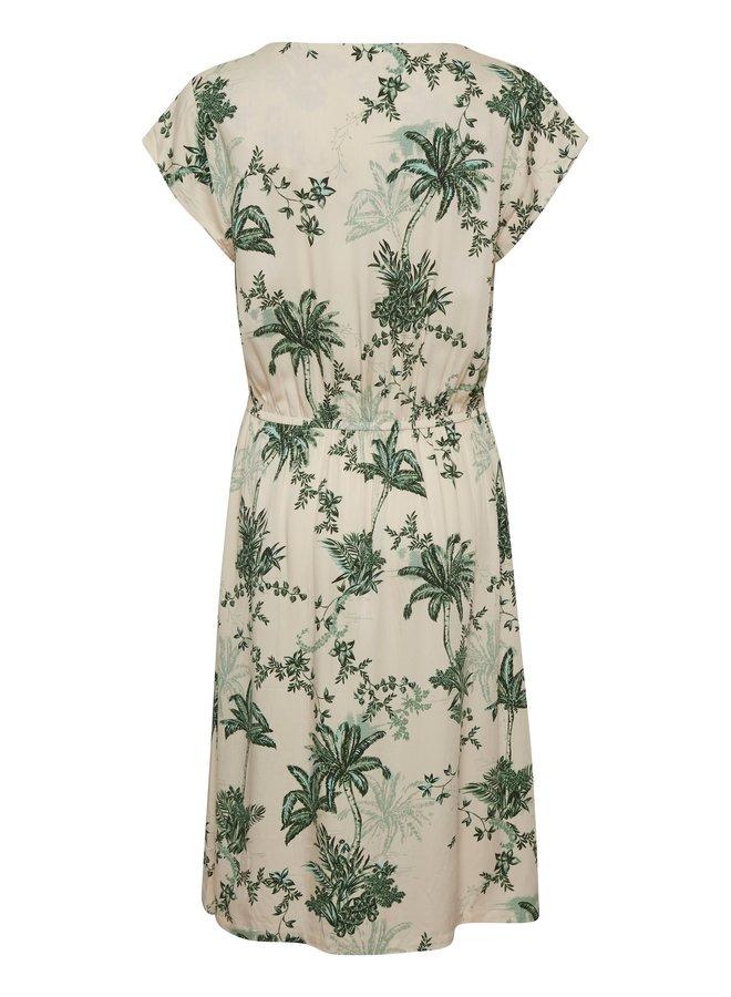 Summer Palm Dress - Creme