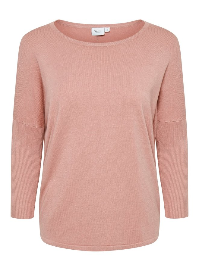 Mila Jumper with Ribbed Sleeves - Party Rose