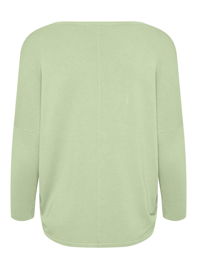 Mila Jumper with Ribbed Sleeves - Aqua Foam