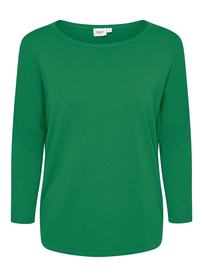 Mila Jumper with Ribbed Sleeves - Jelly Bean