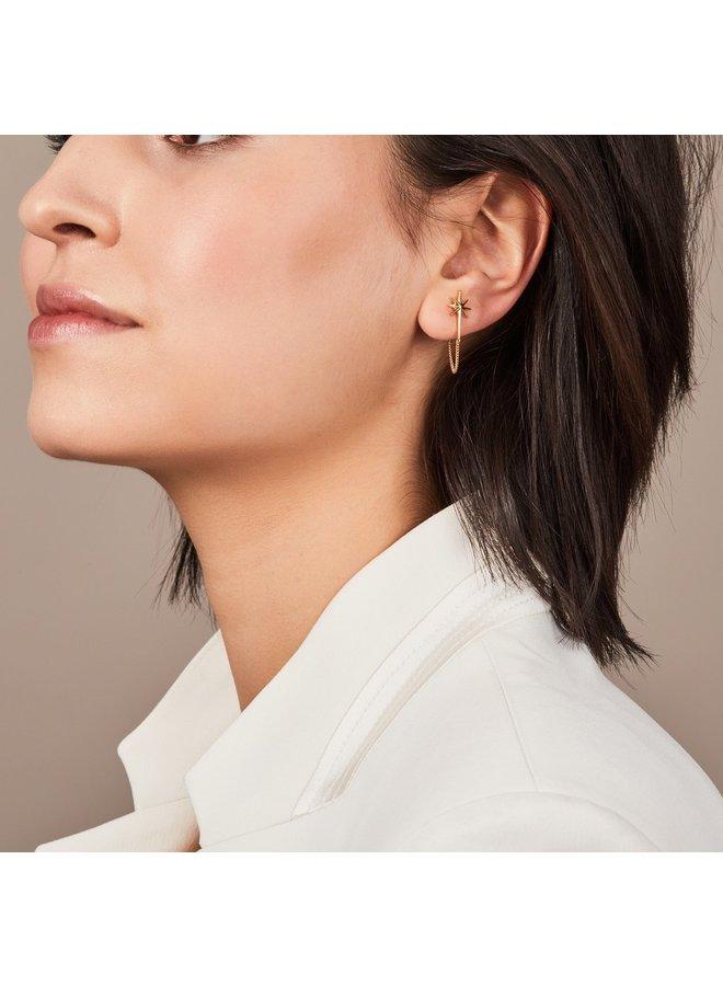 Rock Star Chain Earrings - Gold