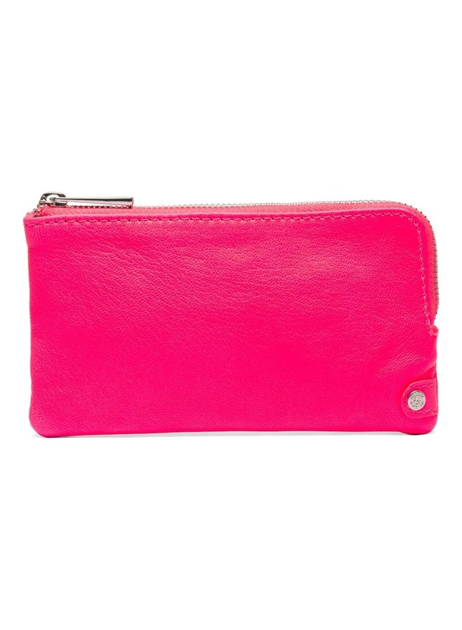Small Fluro Purse - Neon Pink