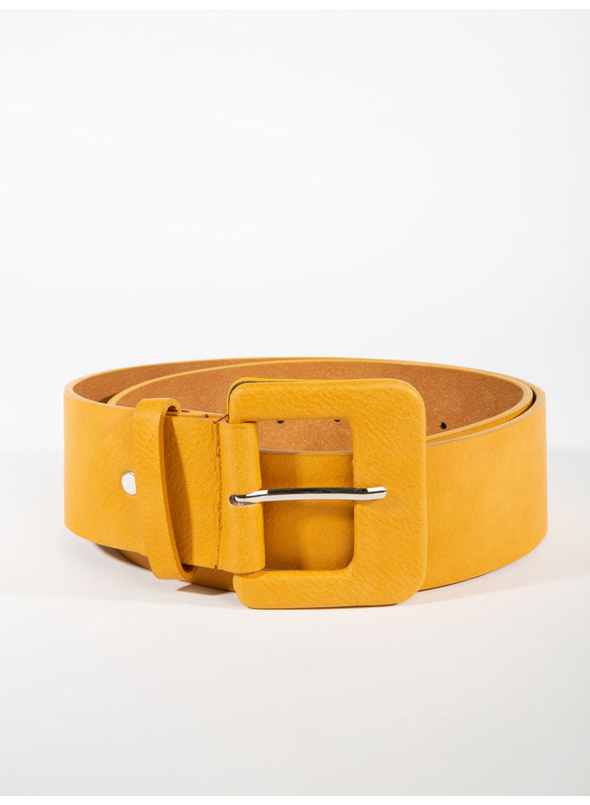 Wide belt w/square buckle