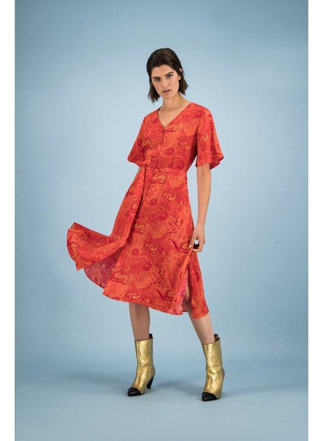 Full of luck dress - Cherry