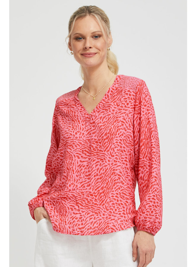 Claire Blouse - Pink/red