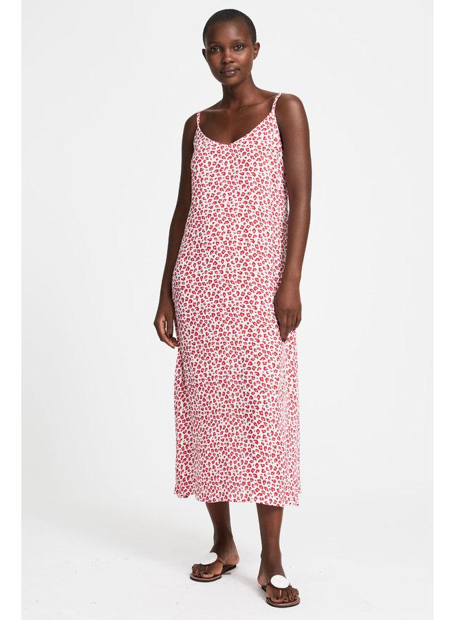 Miami Midi Dress - White/Pink