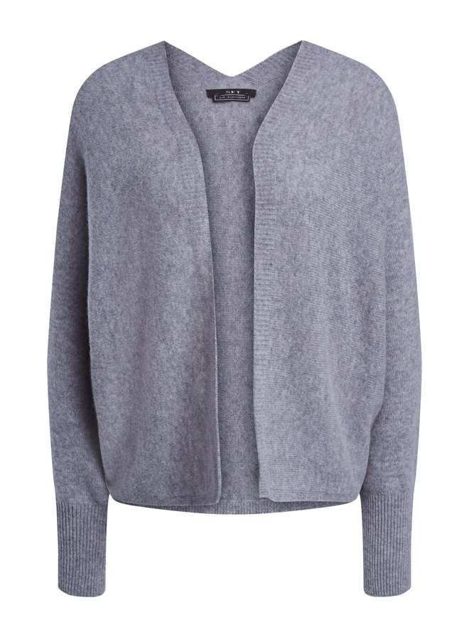 Cashmere mix cardi - Grey
