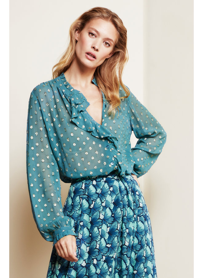 Garden Blouse - Dusty Blue