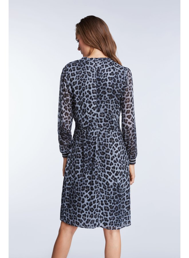Lurex Cuff Dress - Black