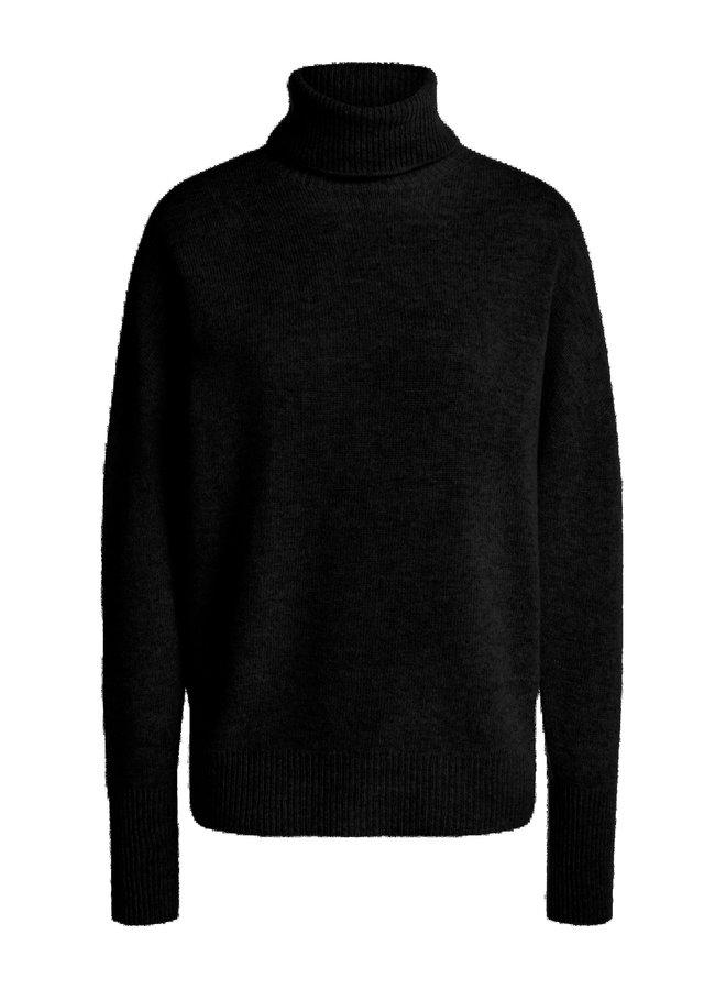 Cashmere blend roll neck - Black