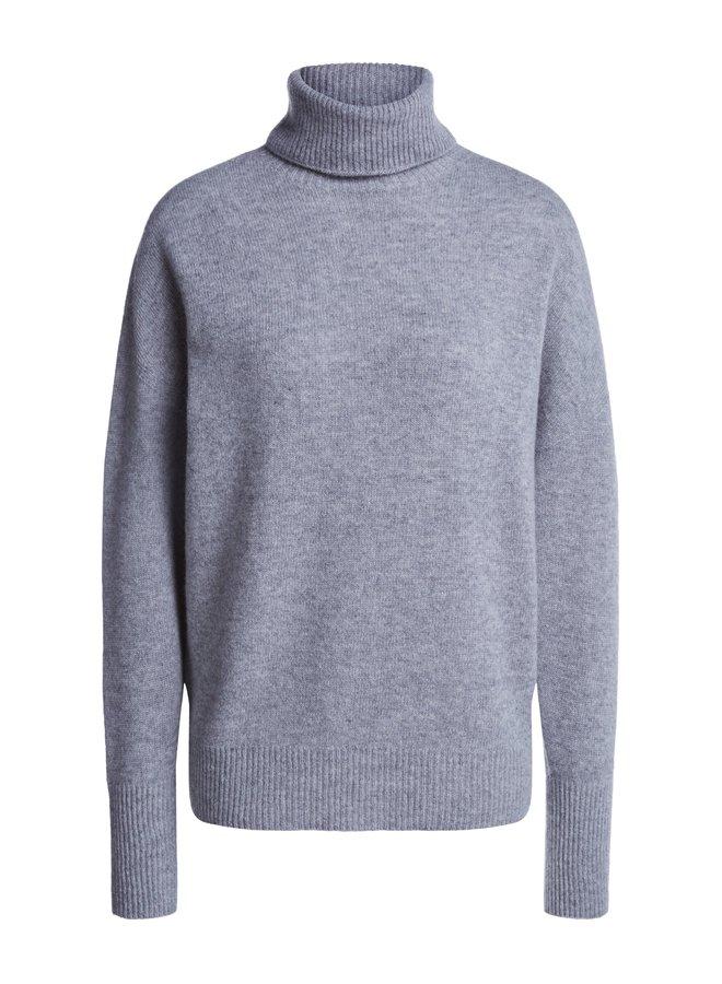 Cashmere Blend Roll Neck - Grey