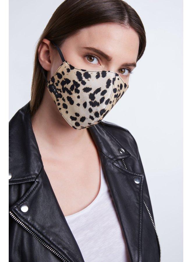Animal print face mask - Goldern Leopard