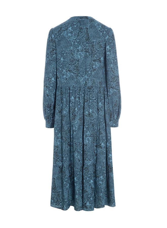 Cathrin Dress - Jungle Blue