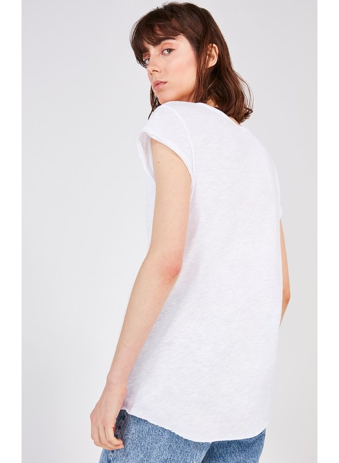 Lorkford Cap Sleeve Tee - White