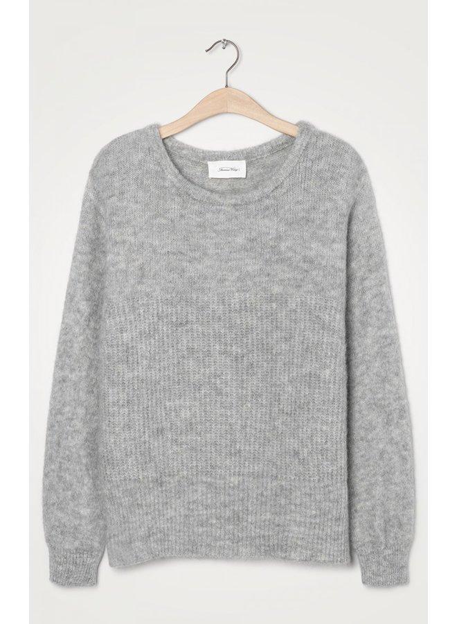 East Scoop Neck Knit - Grey Melange