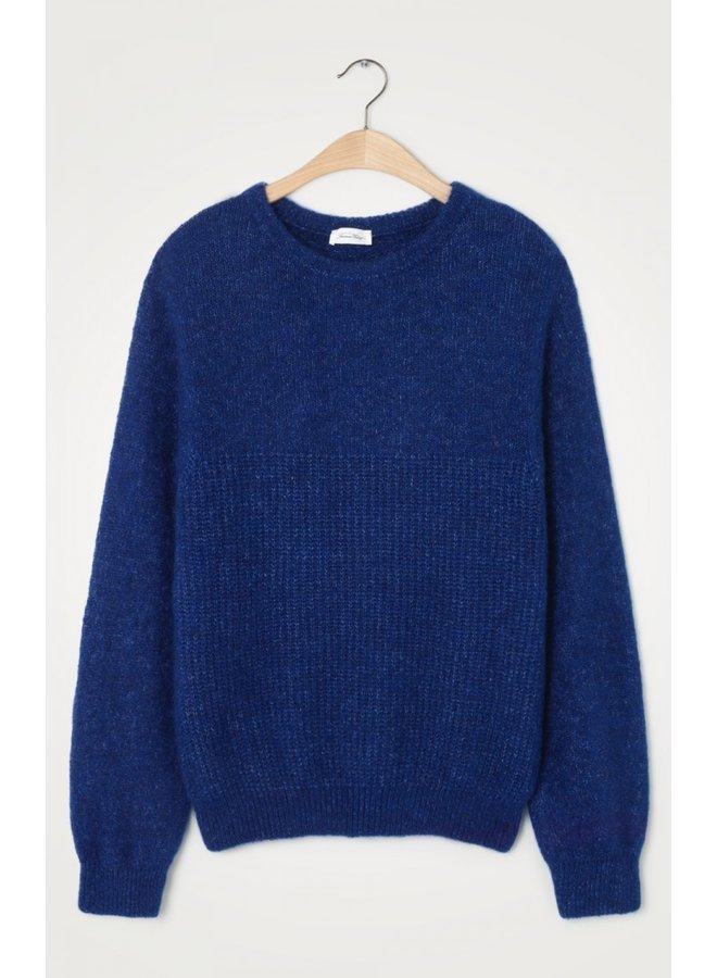East Scoop Neck Knit - Royal Blue